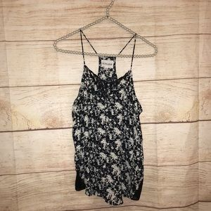 Olive and Oak size small black and white tank